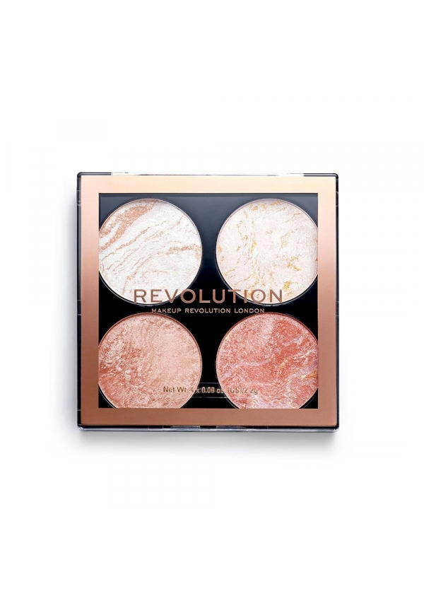 Revolution Makeup Хайлайтер 4 в 1 Cheek Kit Take A Breather