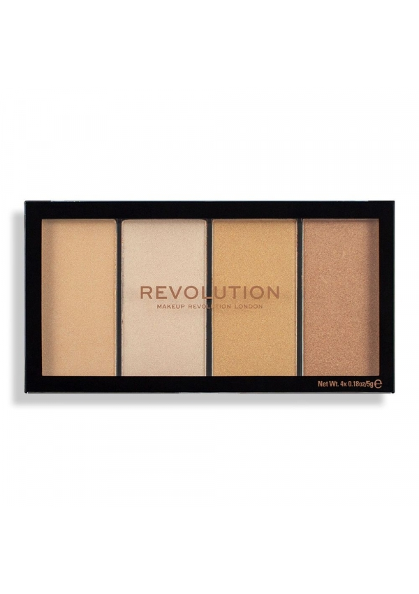 Revolution Makeup Палетка хайлайтеров Revolution Reloaded Lustre Lights Warm